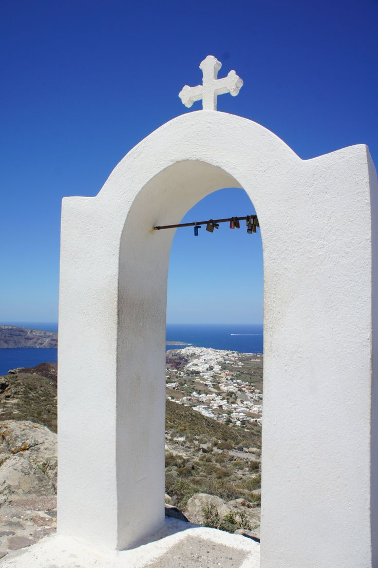 When in Santorini make sure to hike to Oia! You run into little gems like the Church of Panagia.