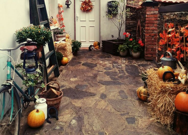 Venkovní podzimní dekorace