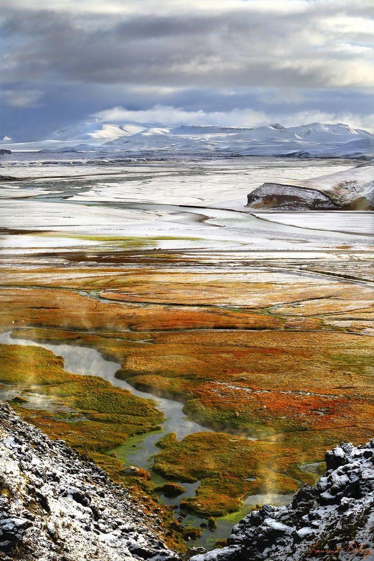 Autumnal Snow, Landmannalaugar, Iceland, Laurent Delcey