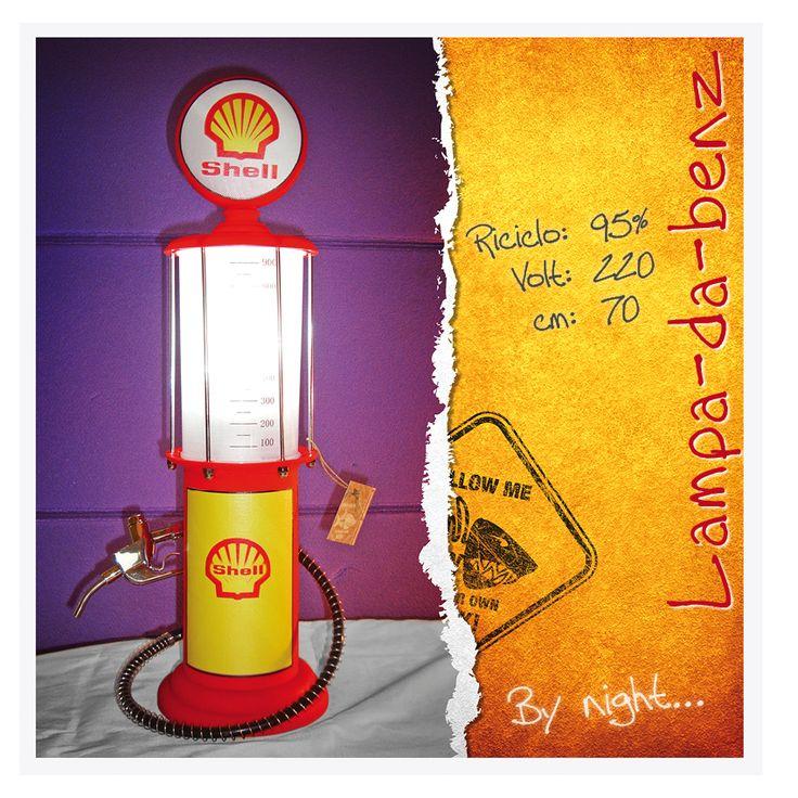 Lampada da tavolo Shell #pompa_benzina #benzina #vintage