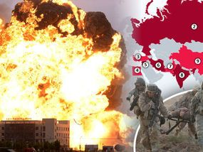 RUSSIA, China and the US are among a list of countries named as most likely to spark a devastating global conflict.