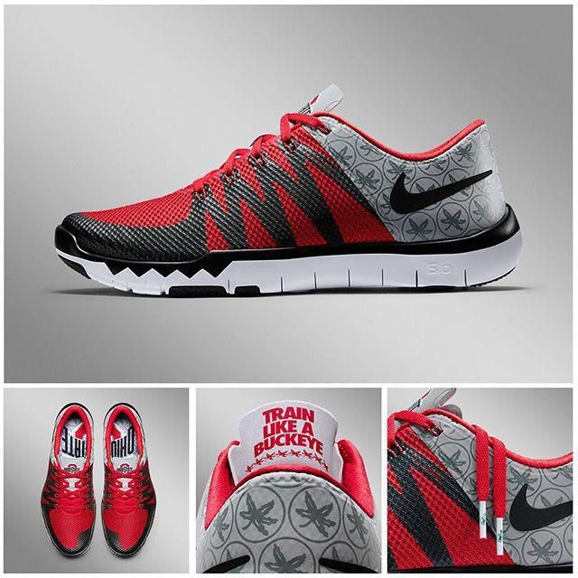 save off 2489a 42c56 ... Ohio State Buckeyes Nike NCAA Free Trainer V7 Week Zero Shoes The  Buckeye Nut on Twitter ...
