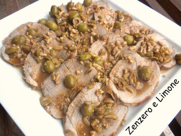 arrosto di vitello in salsa di olive