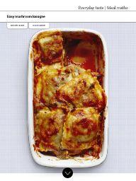 Waitrose Food November 2016: Easy mushroom lasagne