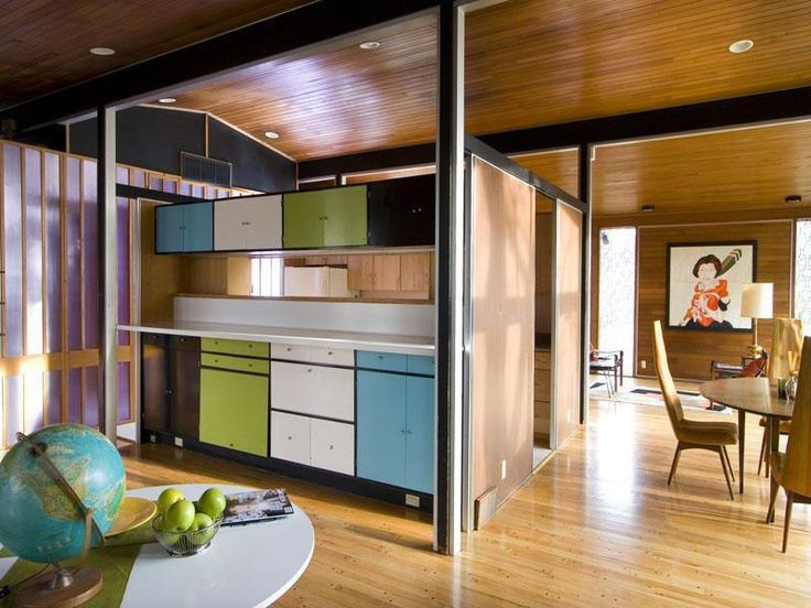 Mid-century spectacular.: Midcentury Modern, Living Rooms, Kitchens Dining Rooms, Creative Spaces, Color, Modern Country Midcentury, Mid Century, House, Black Accent