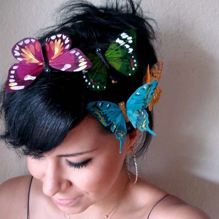Butterflies:  Butterfly hair clips