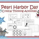 Basic facts about Pearl Harbor Day that include 25 critical thinking activities for ELA and History/Social Studies. Illustrated black and white images for coloring and decorating. Includes: KWL Chart Where is Pearl Harbor? What prompted the attack? Timeline of Events (to build) When was the attack?