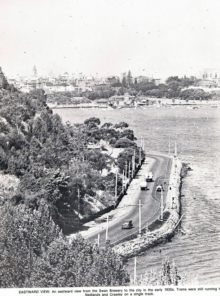 Eastward view from the Swan Brewery to the city, Perth, early 1930s