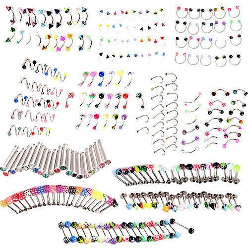 20X Eulogize Crystal Eyebrow Tongue Nose Navel Belly Button Studs Body Piercing