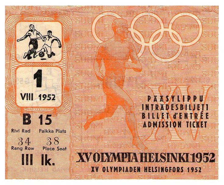 Helsinki ticket - Kesäolympialaiset 1952 – Wikipedia