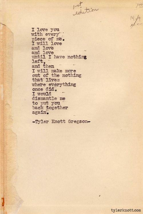 Tyler Knott Gregson – Typewriter Series