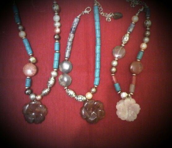 Gemstone necklaces by Wita Anggraini-Indonesia