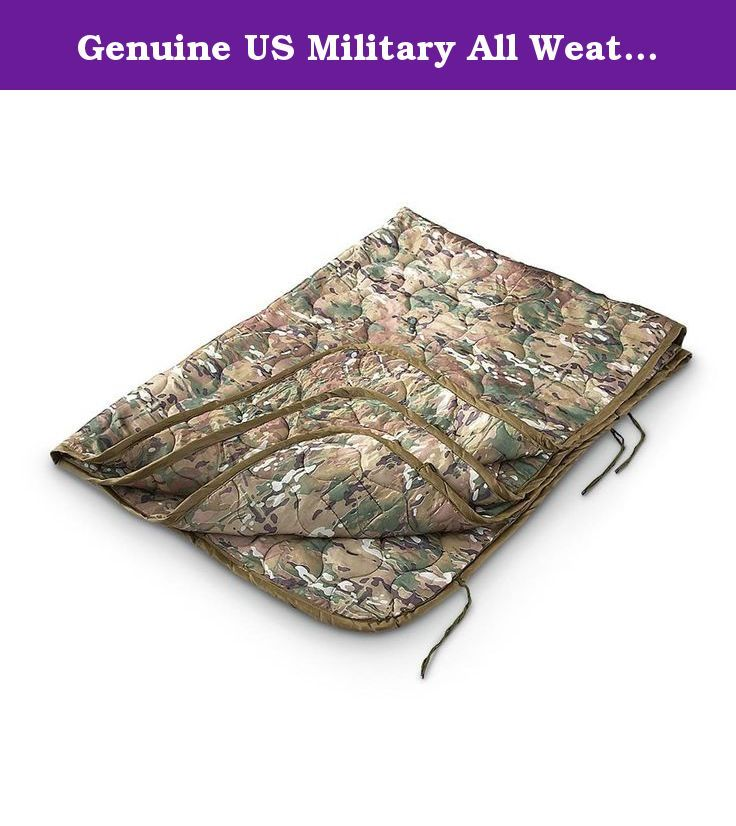 Genuine US Military All Weather Poncho Liner Blanket MULTICAM Multi-cam Multi Cam. This is the liner issued to US troops in Afghanistan. Designed to add extra padding and insulation under your poncho. Built to military specifications. Made of genuine Crye Precision Multicam material. Made in USA.