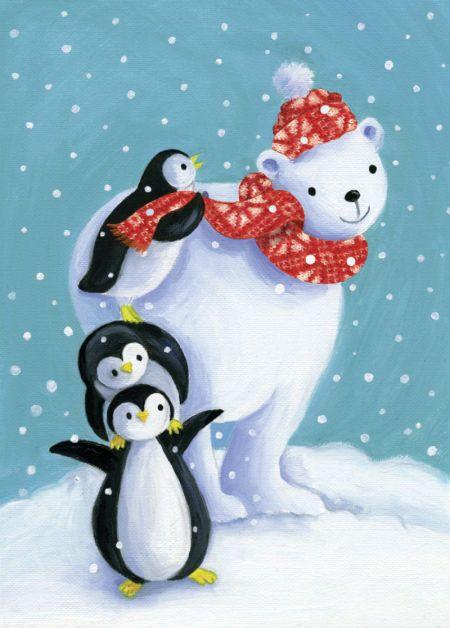 Красивые открытки с пингвинами, дню газовика