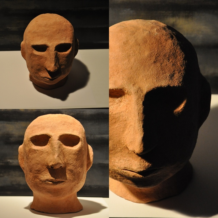 ceramic head 4 fired clay sculpture by iza hazell