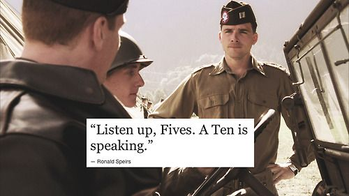 Cpt. Ronald Speirs is a TEN