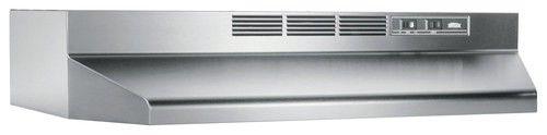 "Broan 413004 - 30"" Recirculating Range Hood - Stainless Steel - Larger Front"