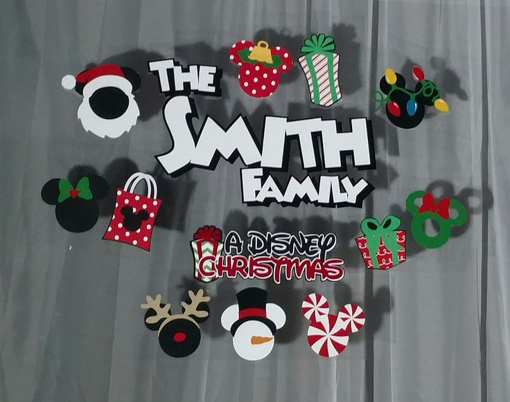 Custom Order Disney Christmas Vacation Hotel Window Decorations by ScrapWithMeToo on Etsy
