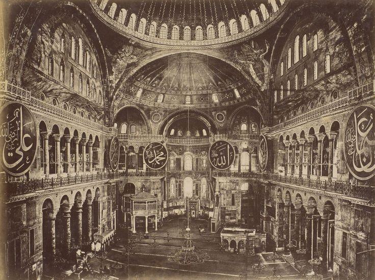 Ayasofya İç Görünümü Abdullah Fréres /1875