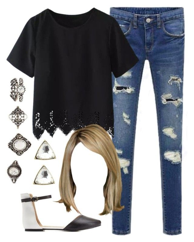 """Edgy Hanna Marin inspired outfit"" by liarsstyle ❤ liked on Polyvore featuring Charlotte Russe, school, college and mid"