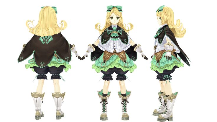 3D Model Game Character   シャリーのアトリエ Modeler:Metasequoia Texture:PaintToolSAI Photoshop By SIGE(Lead)