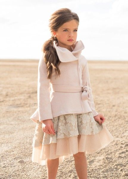 Joanna Coat in Silver Lining - Ma Petite