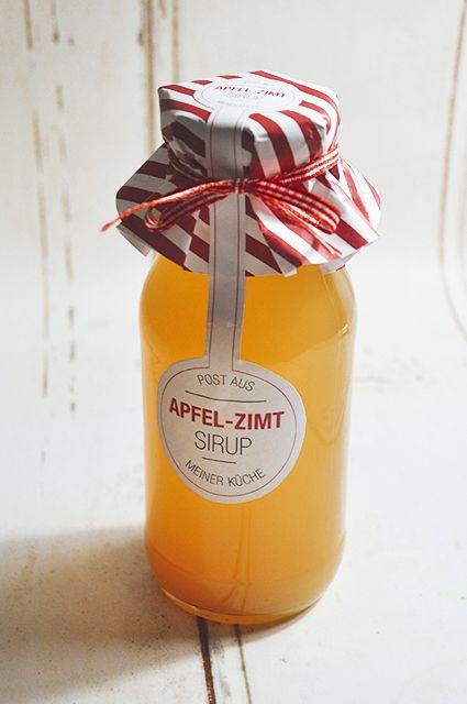 Apfel-Zimt-Sirup - Das Rezept dazu: http://monsieurmuffin.wordpress.com/?s=apfelzimt