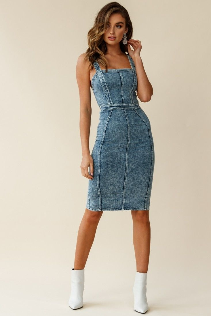 Shalom Structured Body Con Midi Dress Washed Blue Black Dress Outfit Casual Midi Dress Midi Dress Bodycon [ 1099 x 733 Pixel ]