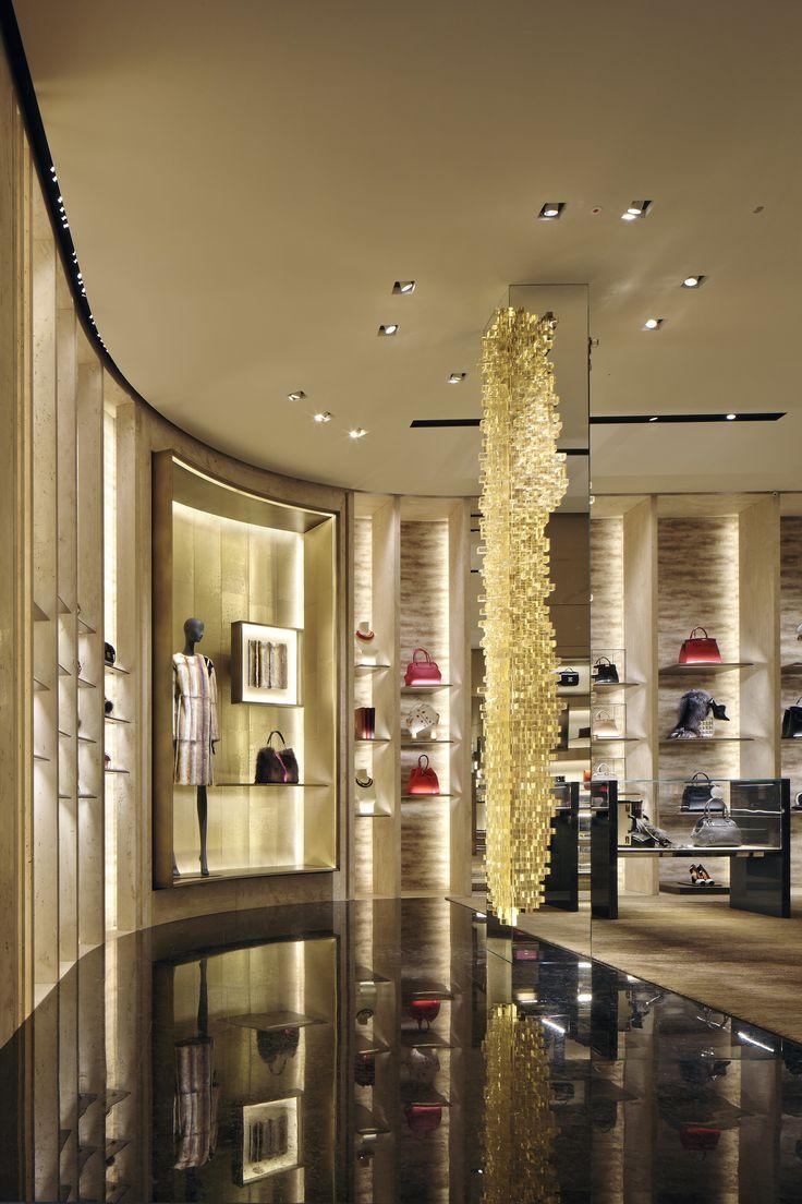 The new Fendi boutique in Milan. #Luxury #retail #boutique