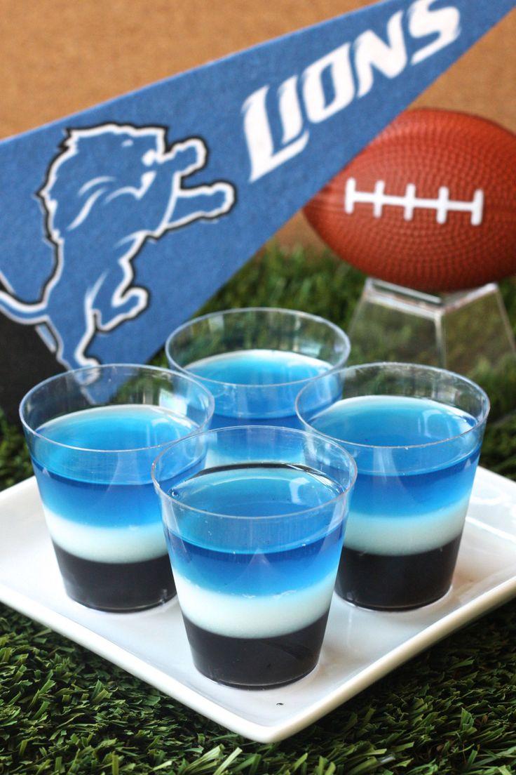 Detroit Lions Jell-O Shots  - Delish.com