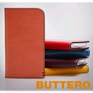 Handytasche Buttero Genuine Leder Handytasche Portfolio für Galaxy Note 3, Galaxy S4, Galaxy Note 2, iPhone 5/5S