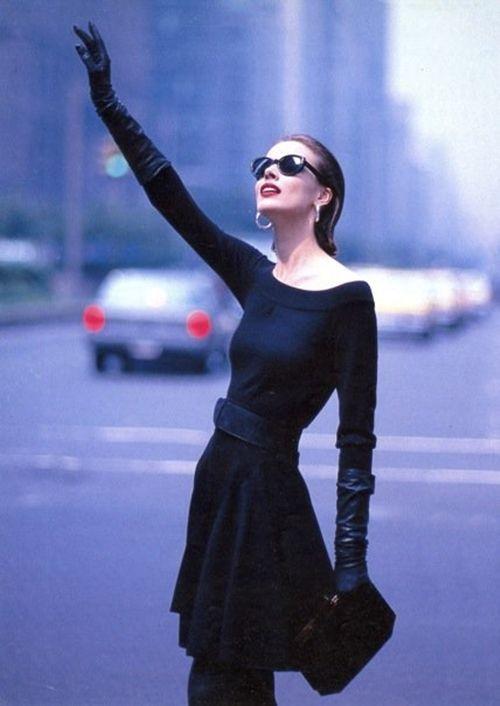 Black dress 80s style living
