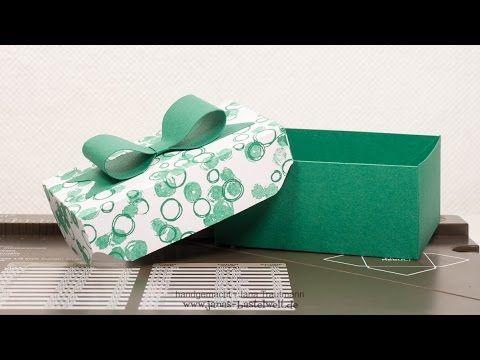 Janas Bastelwelt - Unabhängige Stampin' Up! Demonstratorin: Video-Tutorial: Box mit pfiffigem Deckel und Schleife