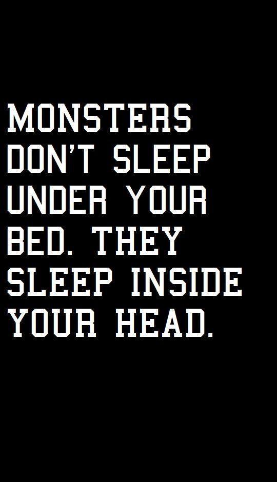 Monster schlafen nicht unter deinem Bett. Sie lebe…