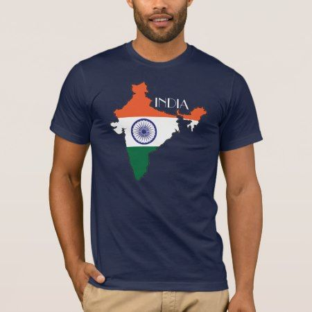 India Flag-Map Shirt - tap, personalize, buy right now!