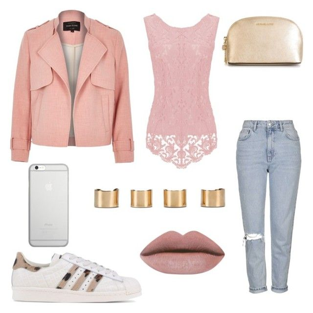 """""""Untitled #12"""" by samantha2nazaret on Polyvore featuring River Island, Topshop, adidas Originals, Maison Margiela, Native Union and MICHAEL Michael Kors"""