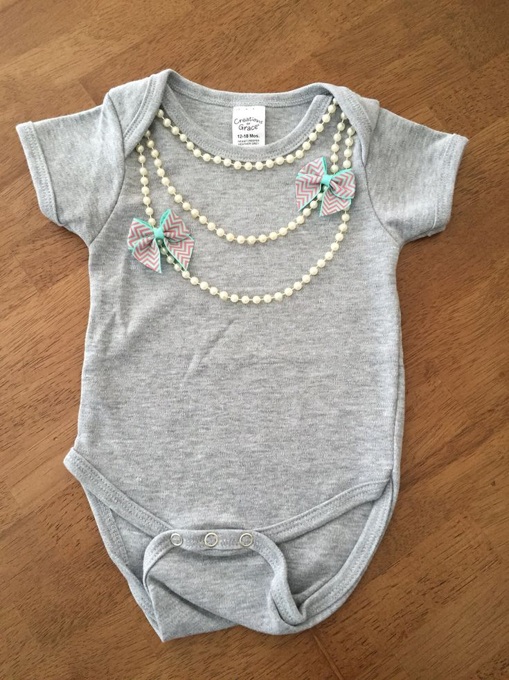 Pearl necklace onesie