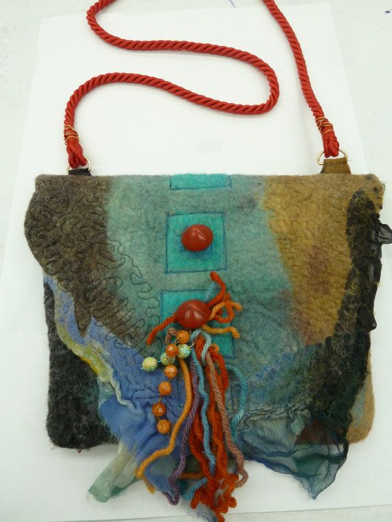 Gorgeous bag! Nuno Felted, etsy