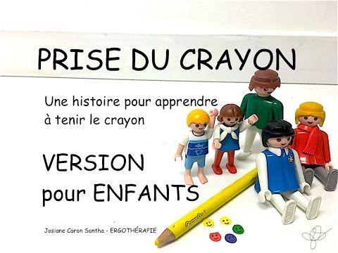 PRISE DU CRAYON 2: L'histoire de la voiture présentée aux enfants (ergothérapie) - YouTube