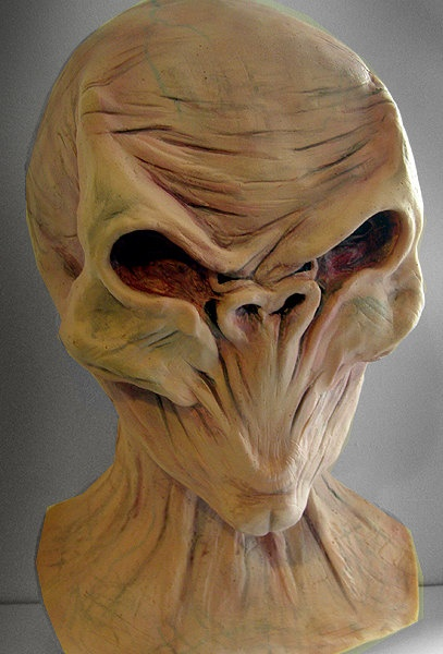 Doctor Who The Silence / Silent overhead latex mask and ...