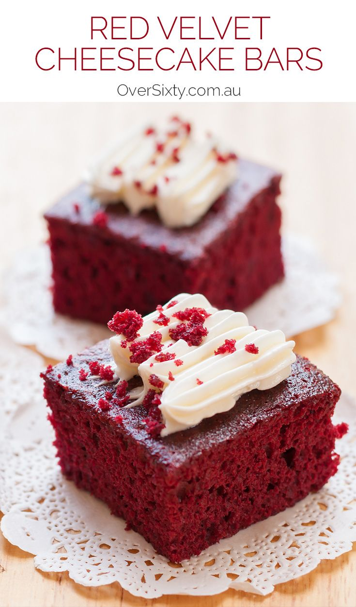 Red Velvet Cheesecake Bars - Do you love red velvet? What about cheesecake? Well, we've combined the two for one delicious, extraordinary dessert.
