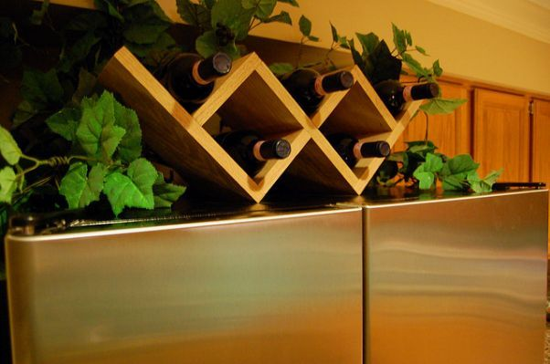 ... some of the homemade wine racks