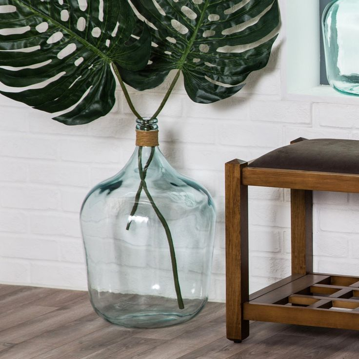 Mercer Large Recycled Glass Vase - Graced with palm fronds, flowers, or left as a stand-alone beauty, the Mercer Large Recycled Glass Vase brings casual coastal ambience to...