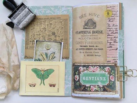 TN Junk Journal Insert Design Project for Ephemera's Vintage Garden