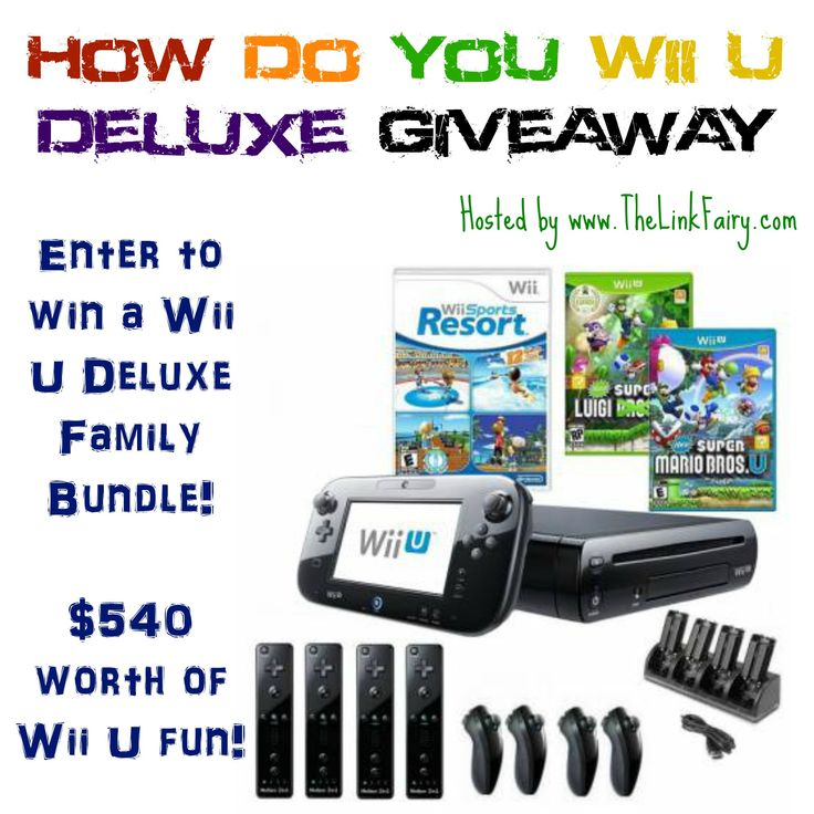 Enter to win a Wii U Deluxe Family Bundle worth $540! #giveaway #videogames #family #gamer