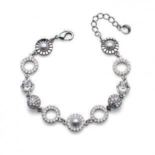 Bracelet Scope rhod. crystal #OliverWeber