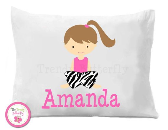 Pajama Personalized Pillow Case Sleepover by The Trendy Butterfly Sigh\u2026love this