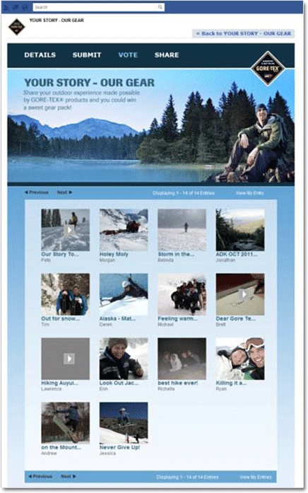 GORE-TEX photo Facebook contest case study. #marketing