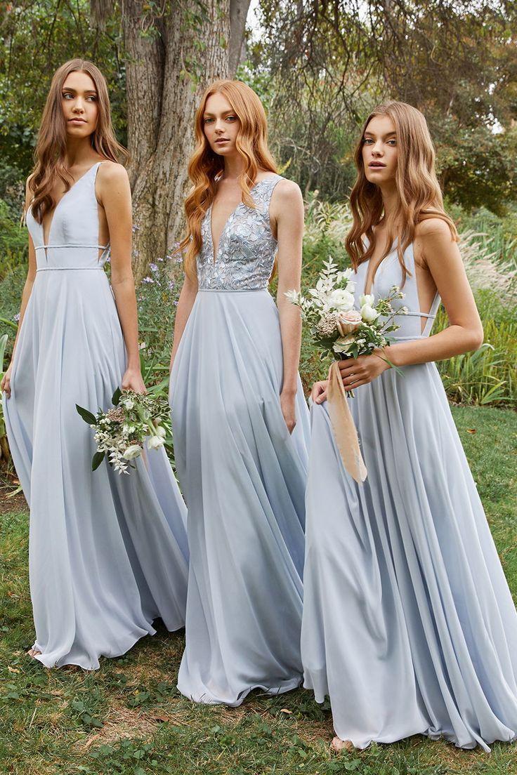 Spring 2019 Bridesmaids In 2020 Floral Bridesmaid Dresses Long Floral Bridesmaid Dresses Mismatched Silk Bridesmaid Dresses