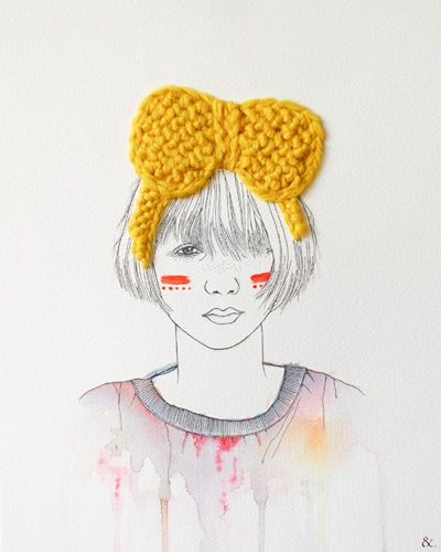 Loving Izziyana Suhaimi's embroidered illustrations from her Friends to Keep you…